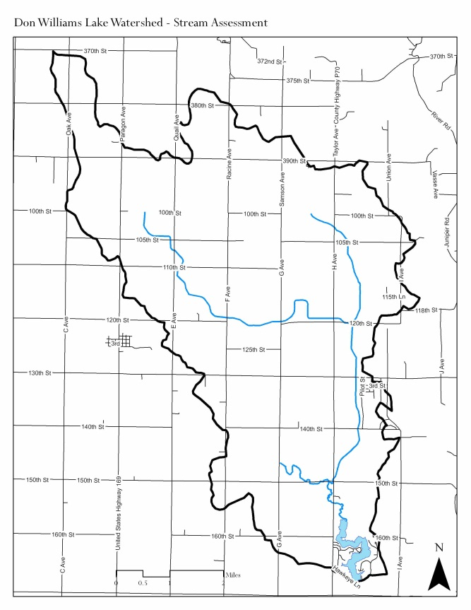 Map of Don Williams Lake watershed