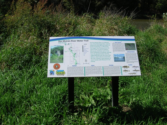 Water Trail Sign